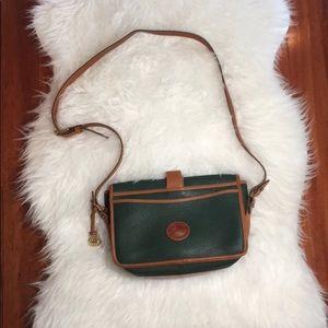 Vintage Dooney And Bourke AWL Green Cross Body Bag